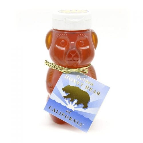 Golden Honey Bear in Squeeze Jar with gift card