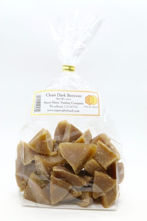 Chunks of Pure All Natural Dark Beeswax from Z Specialty Food
