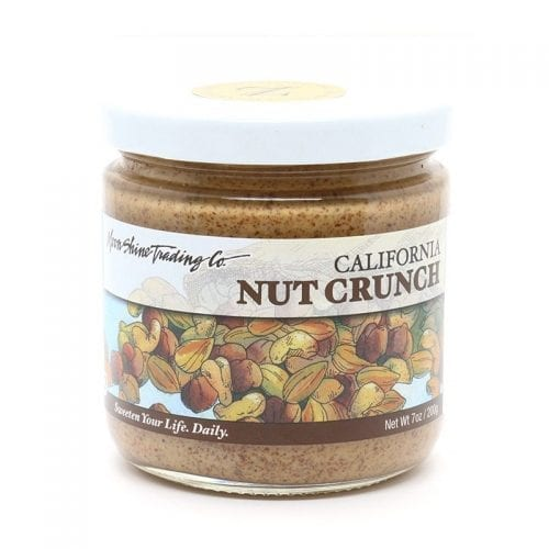 Moon Shine Trading Co. California Nut Crunch Butter combines Almonds, Cashews and Filberts