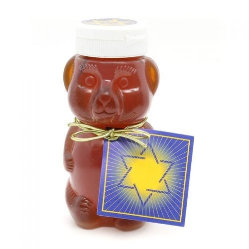 Kosher Dubie Honey Bear with Jewish star gift card