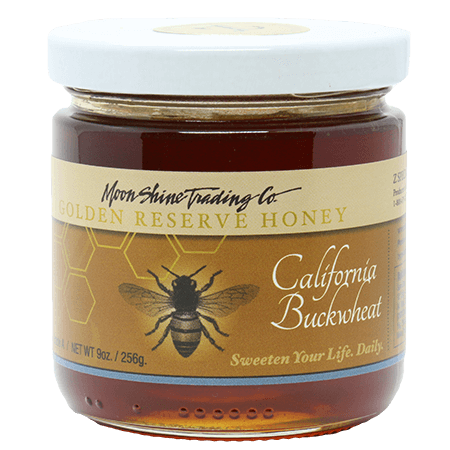 Moon Shine Trading Co. Gourmet Golden Reserve Honey: California Buckwheat