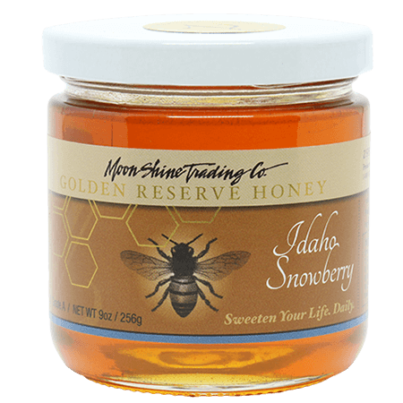 Moon Shine Trading Co. Gourmet Golden Reserve Honey: Idaho Snowberry