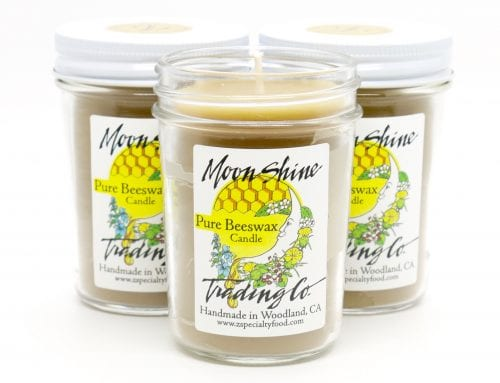 Pure Beeswax Candle, handmade by Moon Shine Trading Co