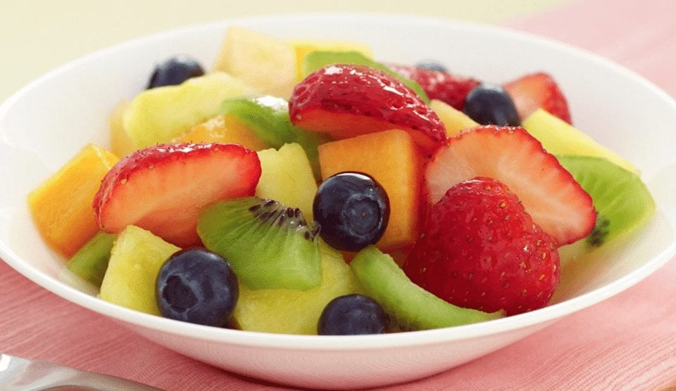 Bowl of Fruit with Honey